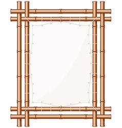 Framed Bamboo Banner vector image vector image