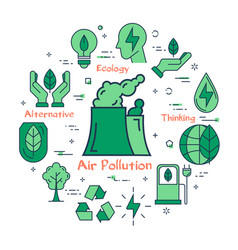 green air pollution concept vector image