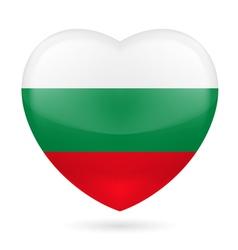 Heart icon of bulgaria vector