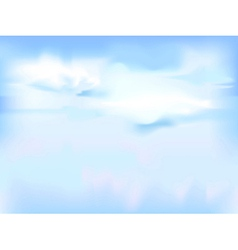 horizontal sky - blue abstract background vector image
