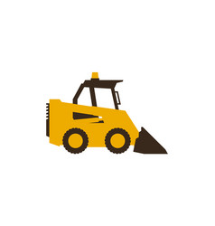 Icon mini loader construction machinery vector