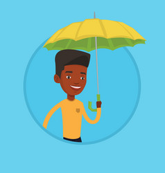 Insurance agent with umbrella vector