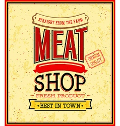 Meat shop design vector image vector image
