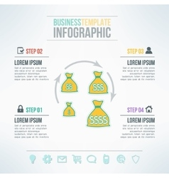 money bags infographic template with icons vector image vector image