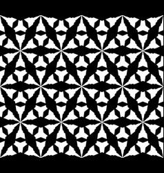 monochrome seamless pattern geometric triangular vector image vector image