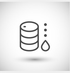 Oil barrel line icon vector