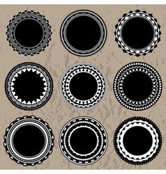 ornate badges vector image