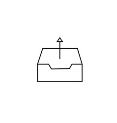 outbox icon vector image
