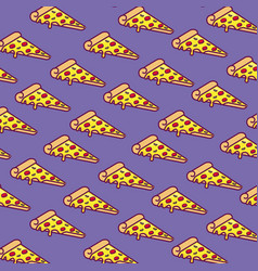 Pizza slices background vector