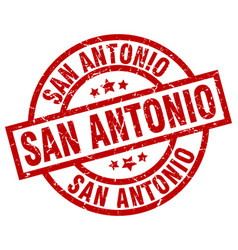 San antonio red round grunge stamp vector