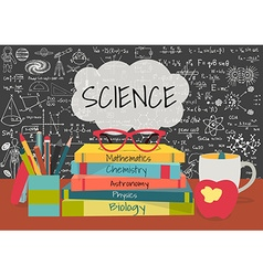 Science class books vector