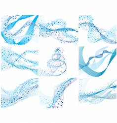set of water background vector image
