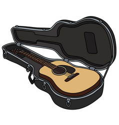 The guitar in a hard case vector
