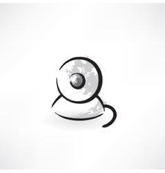 Web cam grunge icon vector