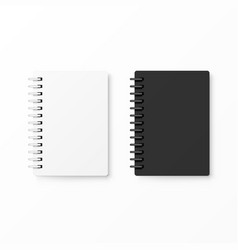 white and black realistic notebooks vector image