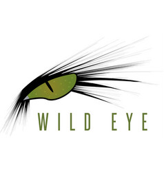 wild eye of animal design template vector image