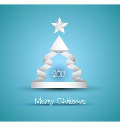 Christmas tree design with origami paper style vector