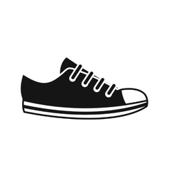 Canvas sneaker icon simple style vector