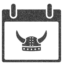 Horned helmet calendar day grainy texture icon vector