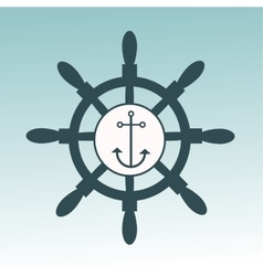 Anchor nautical symbol badge vector