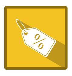 Symbol bid tag icon vector