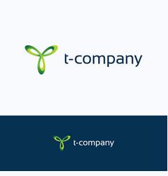 t company logo vector image