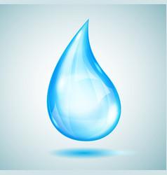 One big light blue drop vector