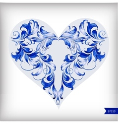 Beautiful heart for valentines day background vector