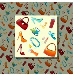 Accessory pattern vector