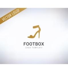 Shoe logo Fashion shopping and sale vector image