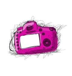 Camera sketch for your design vector