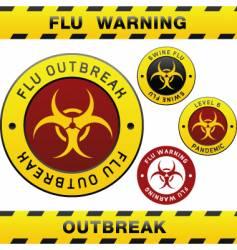 flu outbreak vector image