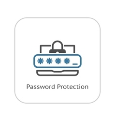 Password protection icon flat design vector