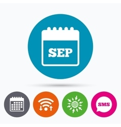 Calendar sign icon september month symbol vector