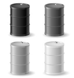 Oil barrels icon set vector image