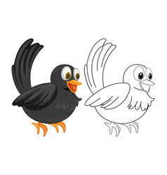 Animal outline for crow vector