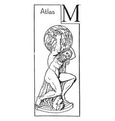Atlas vintage vector