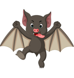 bat cartoon vector image vector image