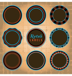 brown vintage labels vector image