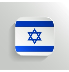 Button - Israel Flag Icon vector image