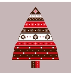 Christmas tree card background vector
