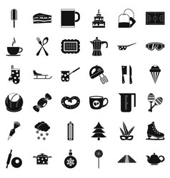 Coffee drink icons set simple style vector