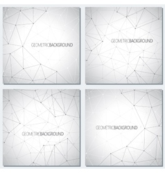 Collection geometric gray background molecule and vector