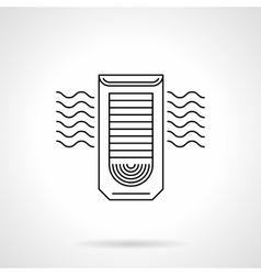 Column air conditioning flat line icon vector