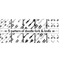 Doodle fork vector