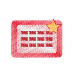 Drawing calendar april fools day vector