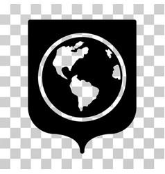 earth shield icon vector image vector image