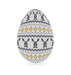 Easter stylized ethnic ornamental egg with rabbit vector