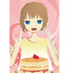 eat cake vector image