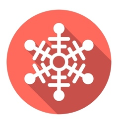 Flat colored simple winter snowflakes vector image